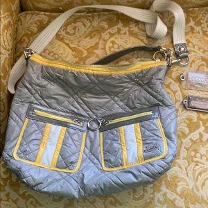 Rare Coach quilted bag ski bunny